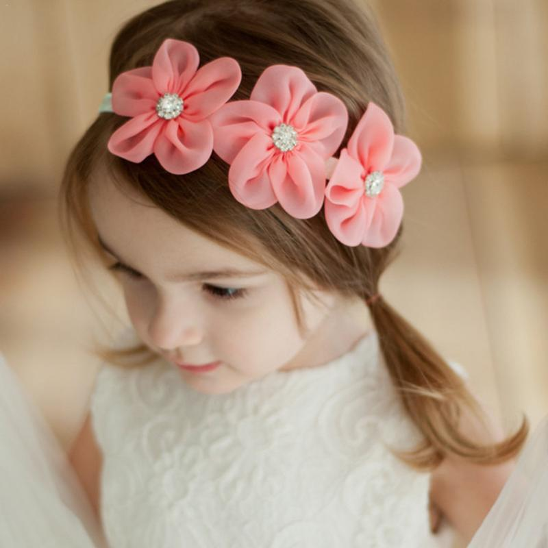 2019 New Baby Girls Flower Headband Headwear Hair Band Infant Children Hair Ornament Hair Accessories
