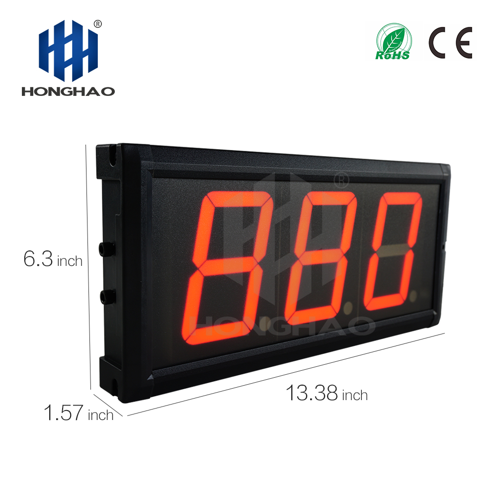 gym interval timer 4INCH 3DIGIT DAY COUNTDOWN led countdown timer secondmeter wedding led countdown timer in Wall Clocks from Home Garden