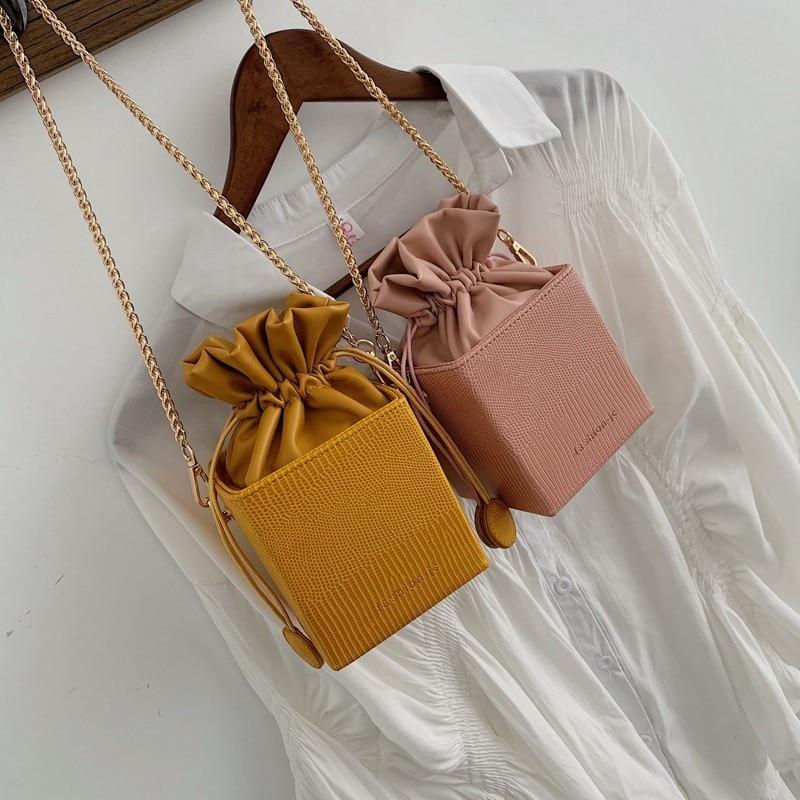 Drawstring Bucket Purses Bag