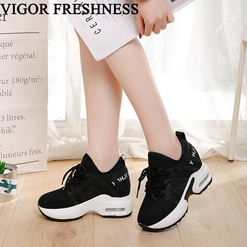 VIGOR FRESHNESS Women Shoes Spring White Sneakers Height Increasing Shoes Woman High Heels Summer Sneakers Tennis Shoes WY479VIGOR FRESHNESS Women Shoes Spring White Sneakers Height Increasing Shoes Woman High Heels Summer Sneakers Tennis Shoes WY479