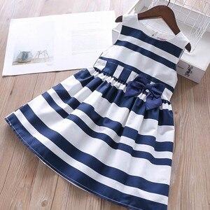Image 3 - Детское летнее Хлопковое платье для девочек, с цветочным принтом