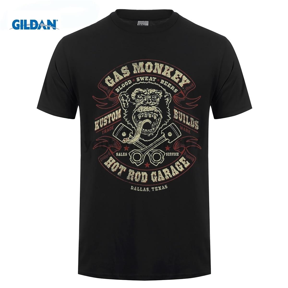 Tops & Tees T-shirts Gas Fast Monkey Garage N Loud Dallas Texas Tatooed Girl Mens T Shirt Mens Short Sleeve T-shirt 2019 Streetwear Tees Moderate Price