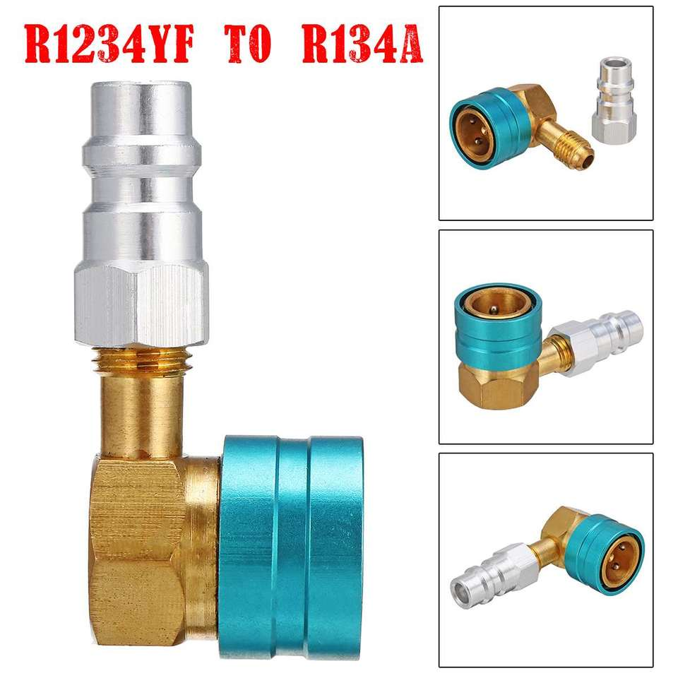 Wisepick Air-Conditioning AC Charging R1234YF to R134A Low Side Quick Coupler,R12 to R134A Hose Adapter Fitting Connector