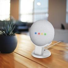 Dla Google Nest Mini Home Mini stojak na biurko asystenci głosowi kompaktowy uchwyt Case Plug in Kitchen sypialnia Study Audio Mount