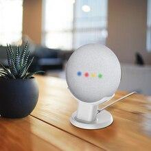 Para o google nest mini casa mini desktop suporte de voz assistentes estojo compacto plug in cozinha quarto estudo montagem áudio