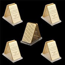 Réplique de lingots d'or fin 999, 5 pièces, pièce de collection, Johnson matthem Assayer et raffinage, 1 once