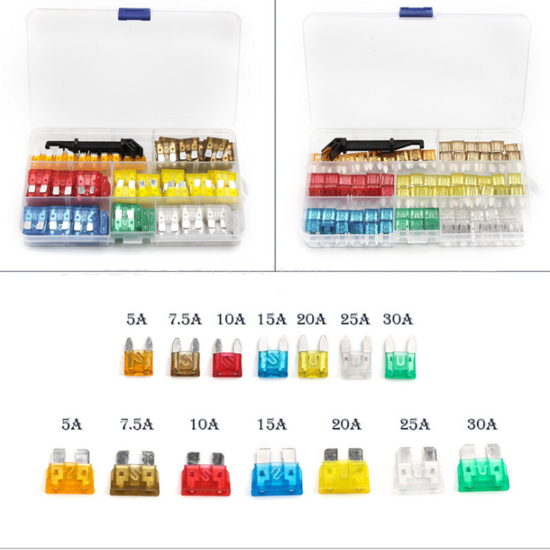 238pcs Car Fuse 5A 7.5 A 10A 15A 20A 25A 30A + Clip Amp With Plastic Box Assortment Auto Blade Fuse