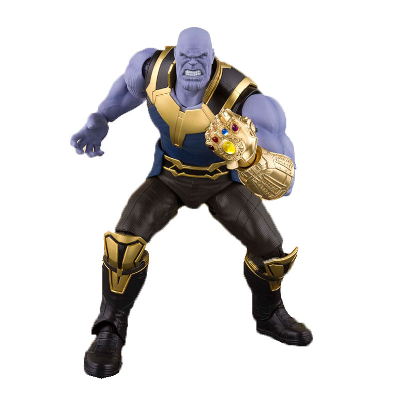SHF Movie Titan Hero Series Marvel Avengers 3 Infinity War Thanos Action Figure Toy PVC Collectible Model Toys For Children 16CM