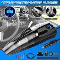4-in-1 Auto Handheld Staubsauger mit Digital Reifen Inflator Pumpe Manometer LED Licht Staubsauger für Home Auto Auto