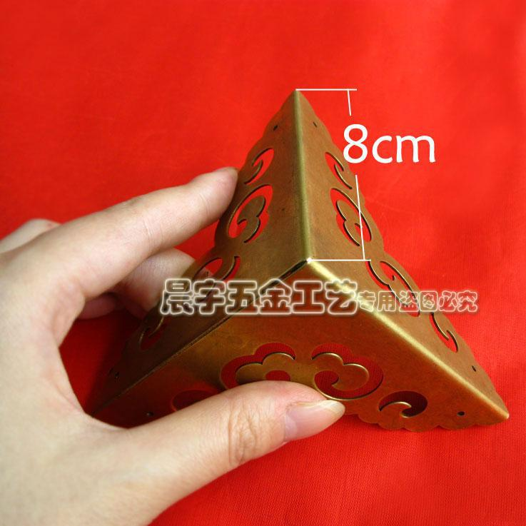 2017 New Metal Furniture Hardware Box Corner Antique Brass Decorative  Jewelry Box Corners Wrap Angle 8cm 4pcs/lot Free Shipping In Corner  Brackets From Home ...