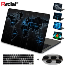 Redlai for Apple MacBook Air 13 inch Case 2019 A1932 Mac book Pro Retina 15 Touch bar A2159 Word Print Hard Shell