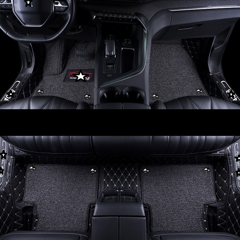 Modification Modified Decorative Interior Mouldings Automovil Accessory Accessories Carpet Car Floor Mats FOR Peugeot 4008 in Floor Mats from Automobiles Motorcycles