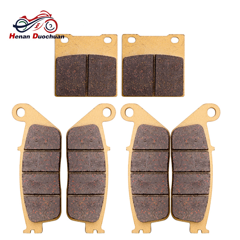 Motorcycle Front Rear Brake Pads Disk For SUZUKI GSF 650 S T V W X Naked