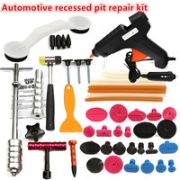 1Set PDRs Tools Car Repair Tool Set Dent Removal Slide Hammer Puller Lifter Kit Paintless Dent Repair Tabs with Glue Gun