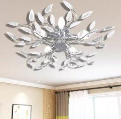 VidaXL Элегантная акриловая потолочная лампа для гостиной/спальни, домашнее освещение, потолочная лампа, светильники, поверхностное креплени...