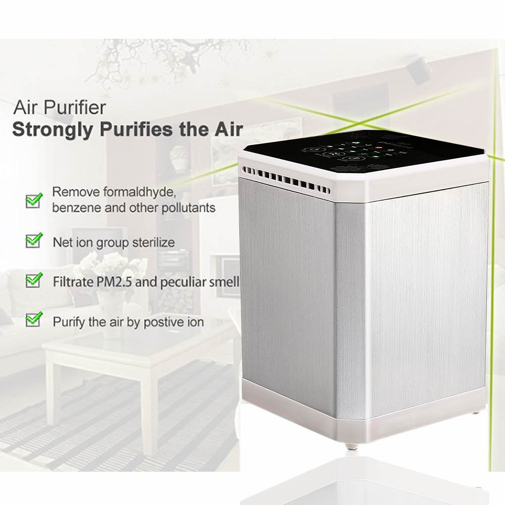 AUGIENB Mini Air Purifier 3-in-1 Filter Mulit-function Negative Ion 5 Hour Timing Fresh Odor Air Desktop Air Cleaner For HomeAUGIENB Mini Air Purifier 3-in-1 Filter Mulit-function Negative Ion 5 Hour Timing Fresh Odor Air Desktop Air Cleaner For Home
