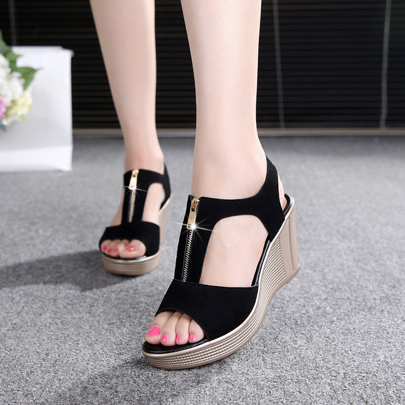 2019 Platform High With Slope With Fish Mouth Sandals Rome 40-43 Womens Shoes2019 Platform High With Slope With Fish Mouth Sandals Rome 40-43 Womens Shoes