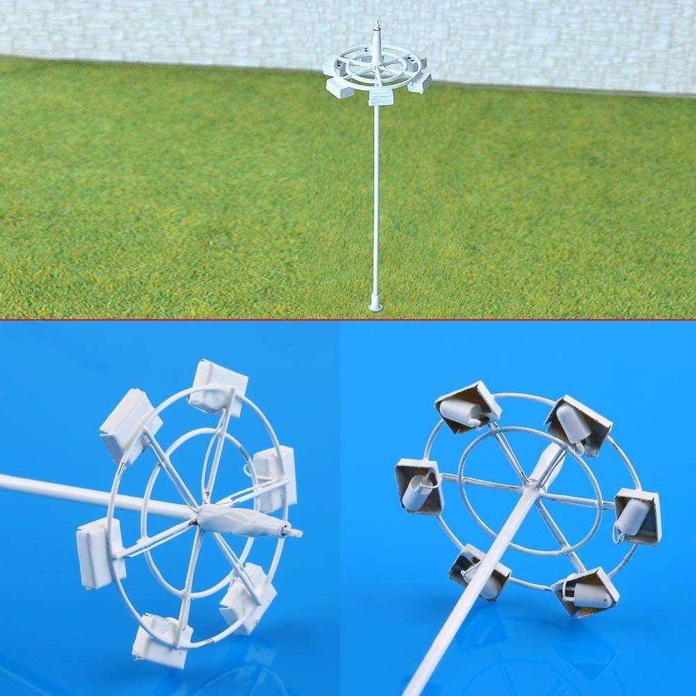 5PCs OO / HO Scale Model Lamp Plaza Lamppost Street Light 3V + Resistor For 12V