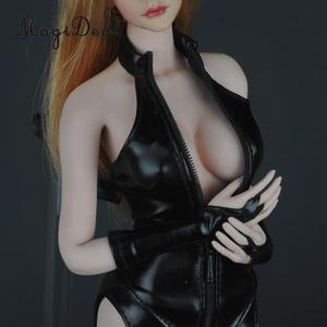 Image 5 - Charming 1/6 PU Leather Hot Faux Corset Tights Gloves Sexy Set for Action Figure Dolls Accessories Girls Toys