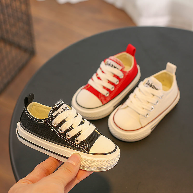 Children Canvas Shoe Baby Girl Boy 1-3 Old Soft Bottom Small White Shoes Catamite Casual Walking Shoes For Girl