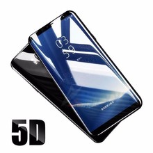 5D Curved Protective glass on the for samsung galaxy j8 j6 j4 a6 8 plus a7 2018 case cover samsun j3 j5 j7 pro J330 J530 5