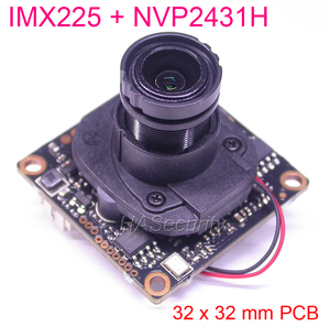 "Image 1 - 32x32mm AHD M (720 P) /CVBS 1/3 ""Exmor IMX225 CMOS sensor + NVP2431 CCTV camera PCB board module + OSD kabel + M12 LEN + IRC (UTC)"