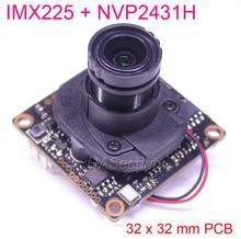 "32x32mm AHD M (720 P) /CVBS 1/3 ""حساس IMX225 CMOS الاستشعار + NVP2431 كاميرا تلفزيونات الدوائر المغلقة PCB لوحة تركيبية + OSD كابل + M12 لين + IRC (UTC)"