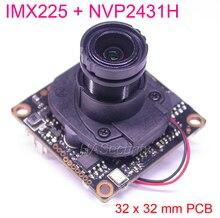 """Sensor CMOS Exmor IMX225 de 32x32mm AHD M (720P) / CVBS 1/3 """"+ NVP2431 PCB para cámara CCTV board module + OSD cable + M12 LEN + IRC (UTC)"""