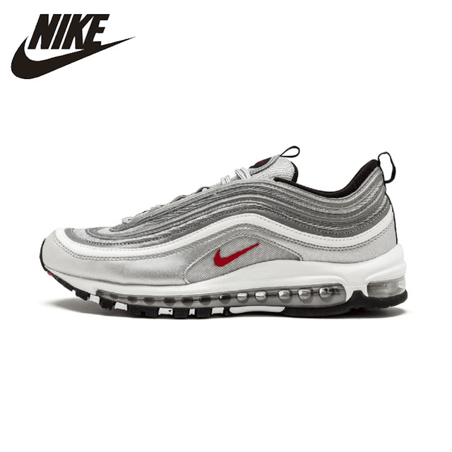 Nike Original Air Max 97 Og Qs Men's Running Shoes Breathable Anti-slip Outdoor Sports Sneakers