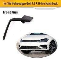 For VW Volkswagen Golf 7.5 R R Line Hatchback 4 Door Carbon Fiber Front Bumper Fins Spoiler