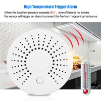 Independent Wireless Smoke Detector Alarm Household Smoke Sensor for Fire Security