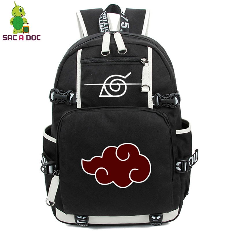 Anime Backpack Laptop-Bags Naruto Travel-Rucksack Akatsuki Teenagers Cosplay Girls