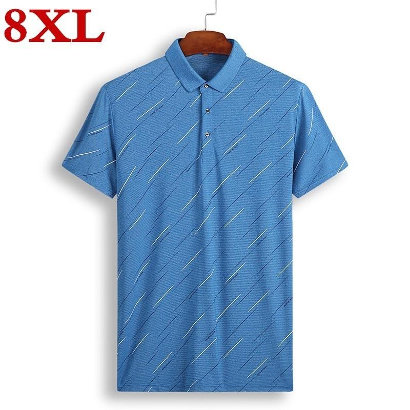 8XL 7XL 6XL 5XL 4XL 2019 New Men   Polo   Shirt Men Casual Male   Polo   Shirt Gray blue Short Sleeve Breathable Shirt Men Plus Size