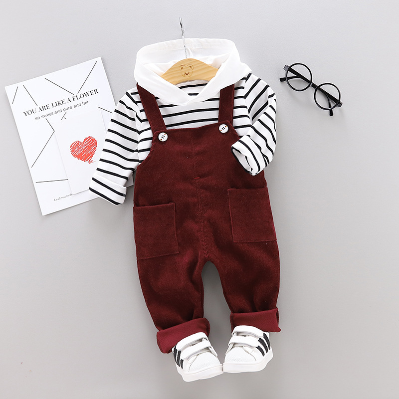 f9822292c Clothes Infant Cotton Striped T Shirt Bib Pants