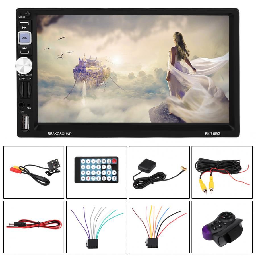 oto teypleri 7inch 2Din BT Car Multimedia Radios Player Audio MP5 Player Rear View Camera araba