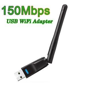 150 Мбит/с USB WiFi адаптер мини беспроводная сетевая карта WiFi ключ USB Ethernet WiFi приемник внешний WLAN Wi-Fi адаптер
