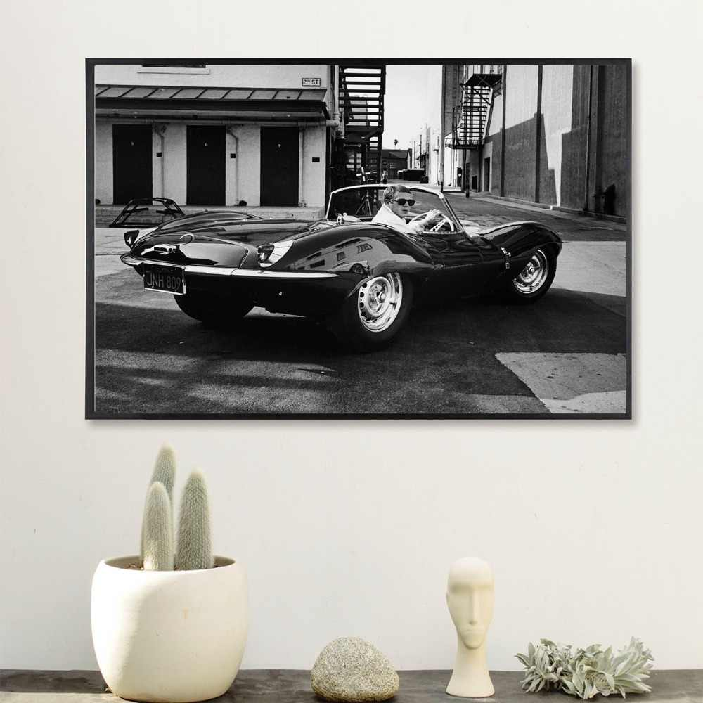 Steve Mcqueen Vintage Movie Poster And Print Canvas Art Painting Wall Pictures For Living Room Decoration Home Decor No Frame