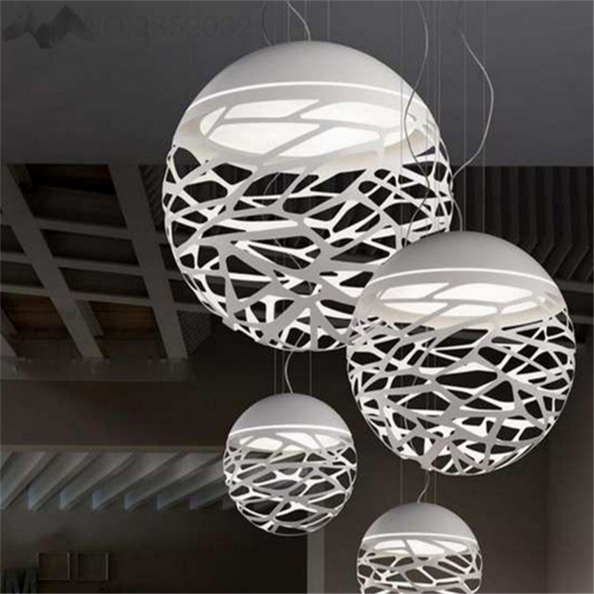 Nordic Vintage Wrought Loft Iron Chandelier Industrial Wind Pendant Lamps Lights Engineering White Ball Cafe Decor Hanging Lamps in Pendant Lights from Lights Lighting