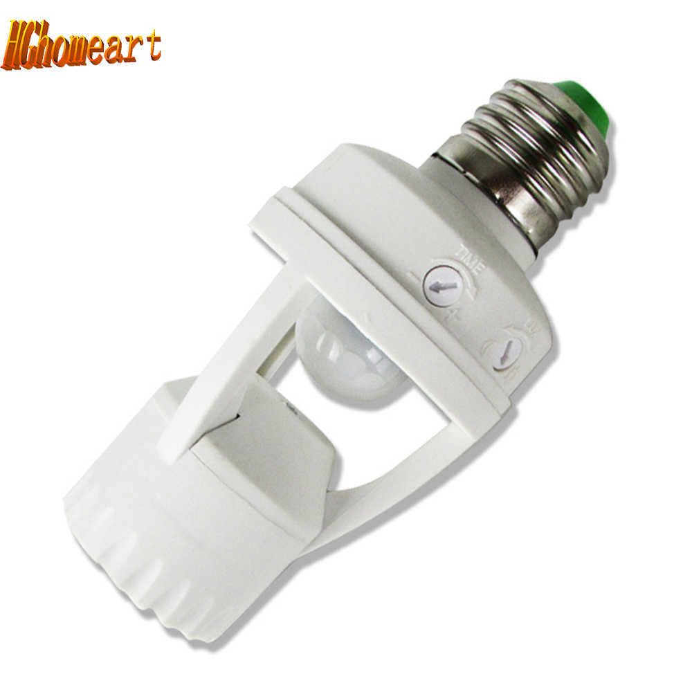 5M Distance Motion Sensor ceiling plate AC 110V 220V LED Infrared PIR E27 Lamp Bases  Bulb Holder lampholders smart socket