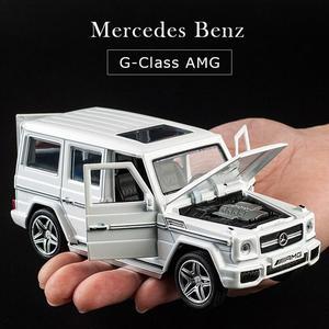 Image 4 - 1:32 stop wycofać Model Model samochodu zabawka dźwięk światło wycofać zabawka samochód dla G65 SUV AMG zabawki dla chłopców dzieci prezent