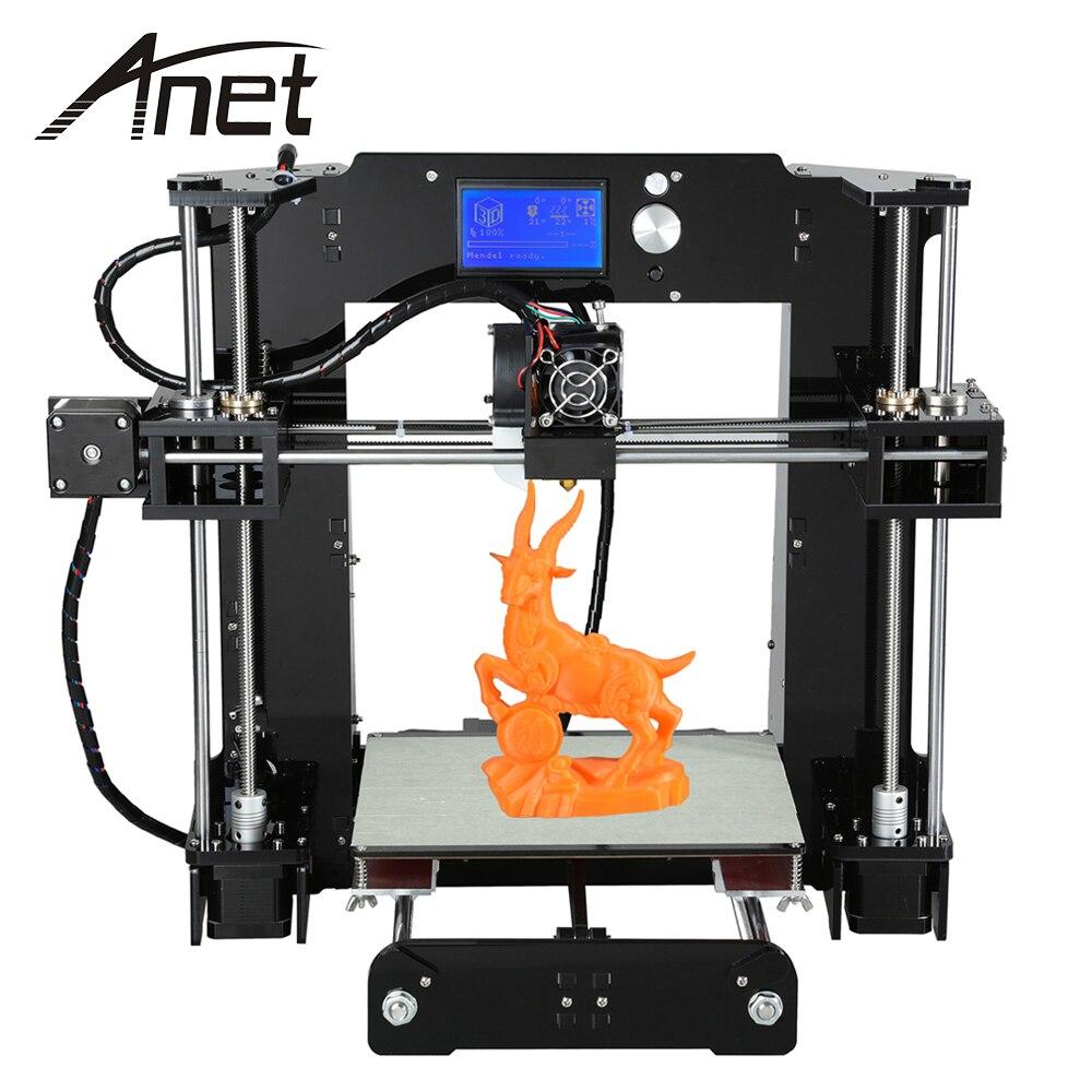 Anet A6 3D настольный принтер комплект ЖК дисплей Экран Дисплей с TF картой Оффлайн печать Функция