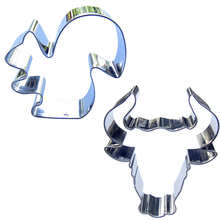 Baking-Tools Biscuit-Cutting-Molds Cake-Decorating Head-Shape Squirrel Bull 2piece