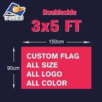 3X5FT Doubleside niestandardowe flagi 90x150cm 100D z poliestru, sportowy projekt dostosowane banery reklamowe LGBT gorąca sprzedaż