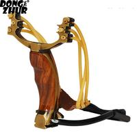 Professional Wooden Athletics Slingshot Adjustable Rubber Hunting Catapult Powerful Outdoor Slingshots with Metal Handle YDY6026