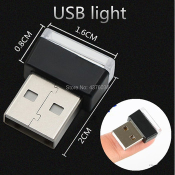 Car USB LED Atmosphere Lights Decorative for volvo hyundai solaris bmw e36 lada golf 7 peugeot 308 jeep renegade golf 5 bmw f30 image