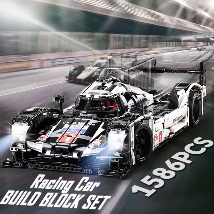 1586PCS Proshes 919 Le Mans Racing Car Model Building Blocks Set 48cm Compatible Major Brands technic