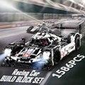 1586 piezas Proshes 919 Le Mans coche de carreras modelo conjunto de bloques de construcción 48 cm Compatible con LEGO technic juguetes regalo para los niños