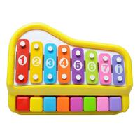 Multicolor Hand Knock Glockenspiel Piano Music Toy Mini Caterpillar Xylophone Kids Musical Instrument Learning Educational Toy