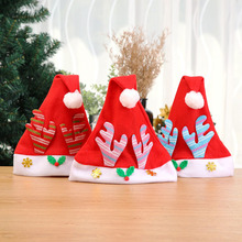 10 Pcs Red Antler Christmas Hats Xmas Merry Chiristmas Decoration for Party Winter Home 2018 Santa Kids