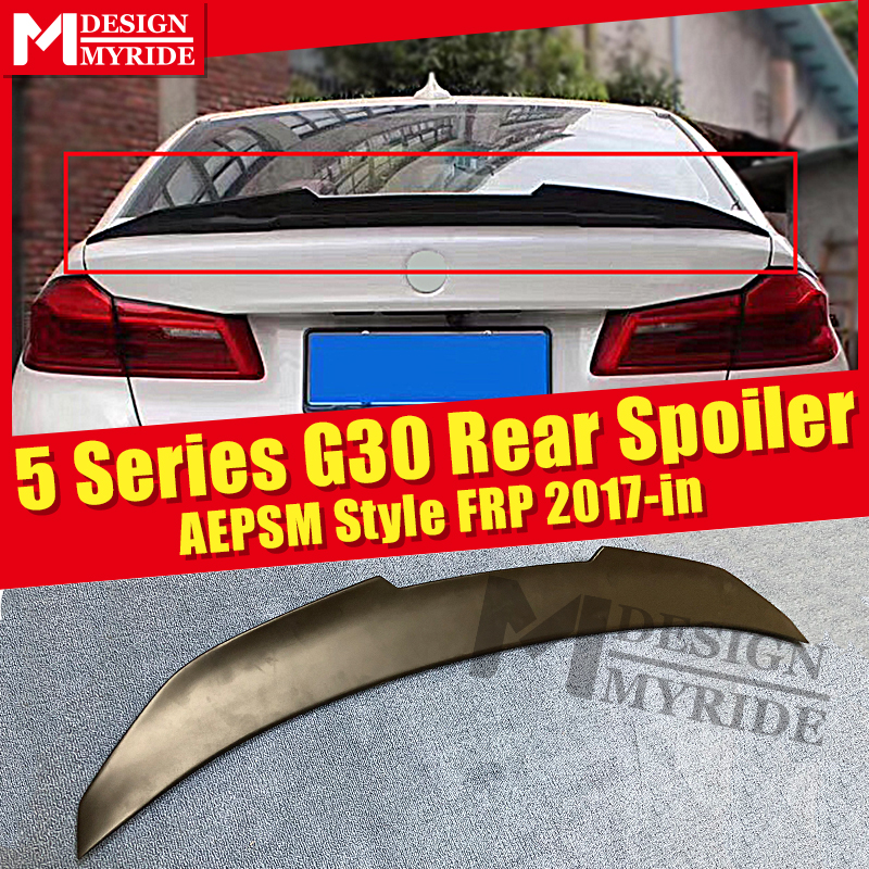 <font><b>G30</b></font> Spoiler stem Wing AEPSM style FRP Primer black For BMW 5 Series <font><b>G30</b></font> <font><b>520i</b></font> 530i 535iGT 540i rear diffuser stem Spoiler 2017-in image